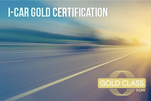 Hilbing Autobody is I-Car Gold Certified